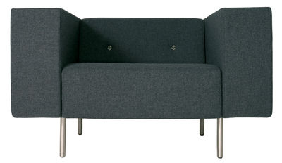 Furniture - Armchairs - Bottoni Padded armchair by Moooi - Middle grey - Wool