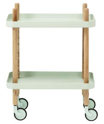 Scopri tavolino d 39 appoggio block sur ruote menta di for Tavolo d appoggio