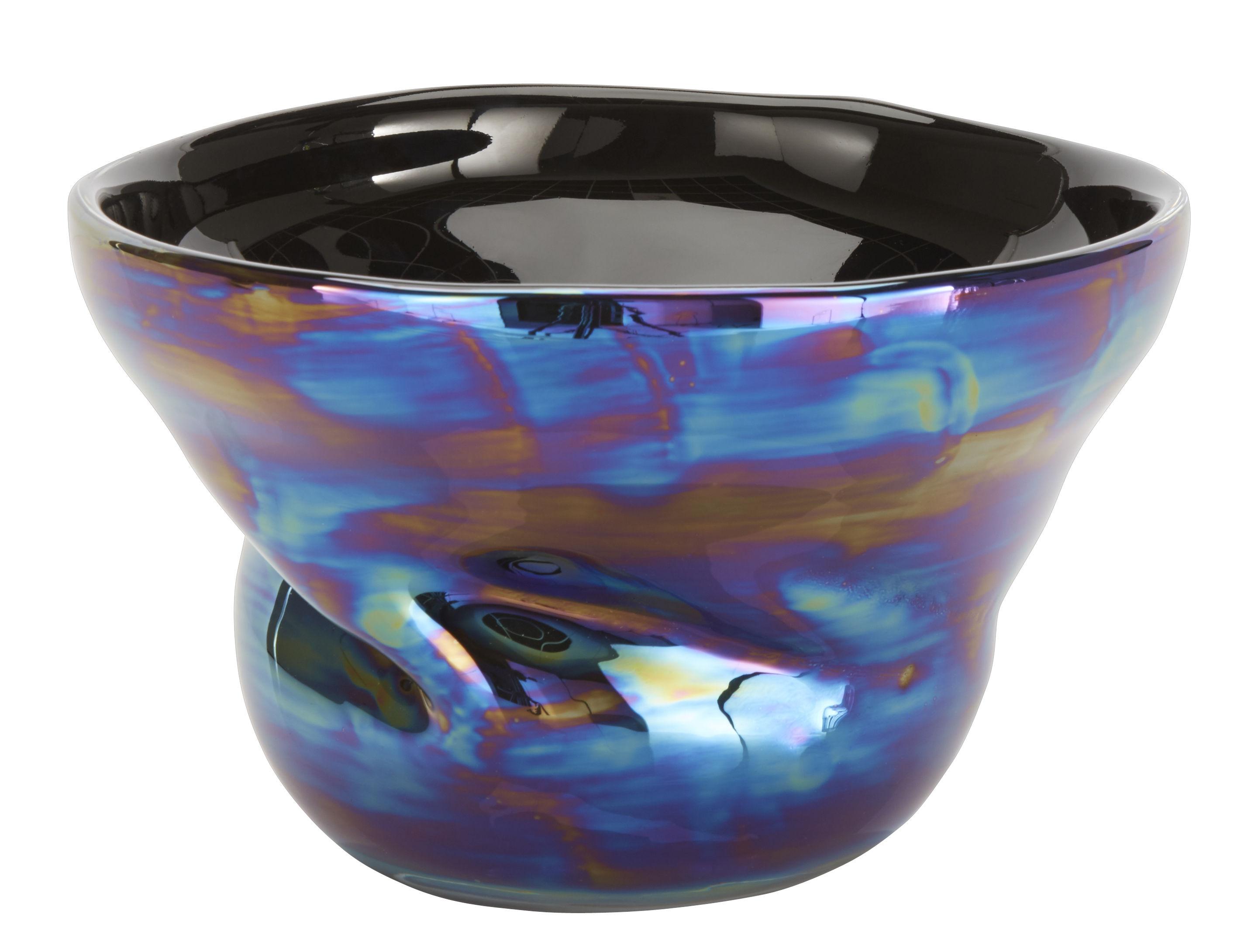 Warp Salad Bowl Fruit Bowl 28 Cm Iridescent Blue By