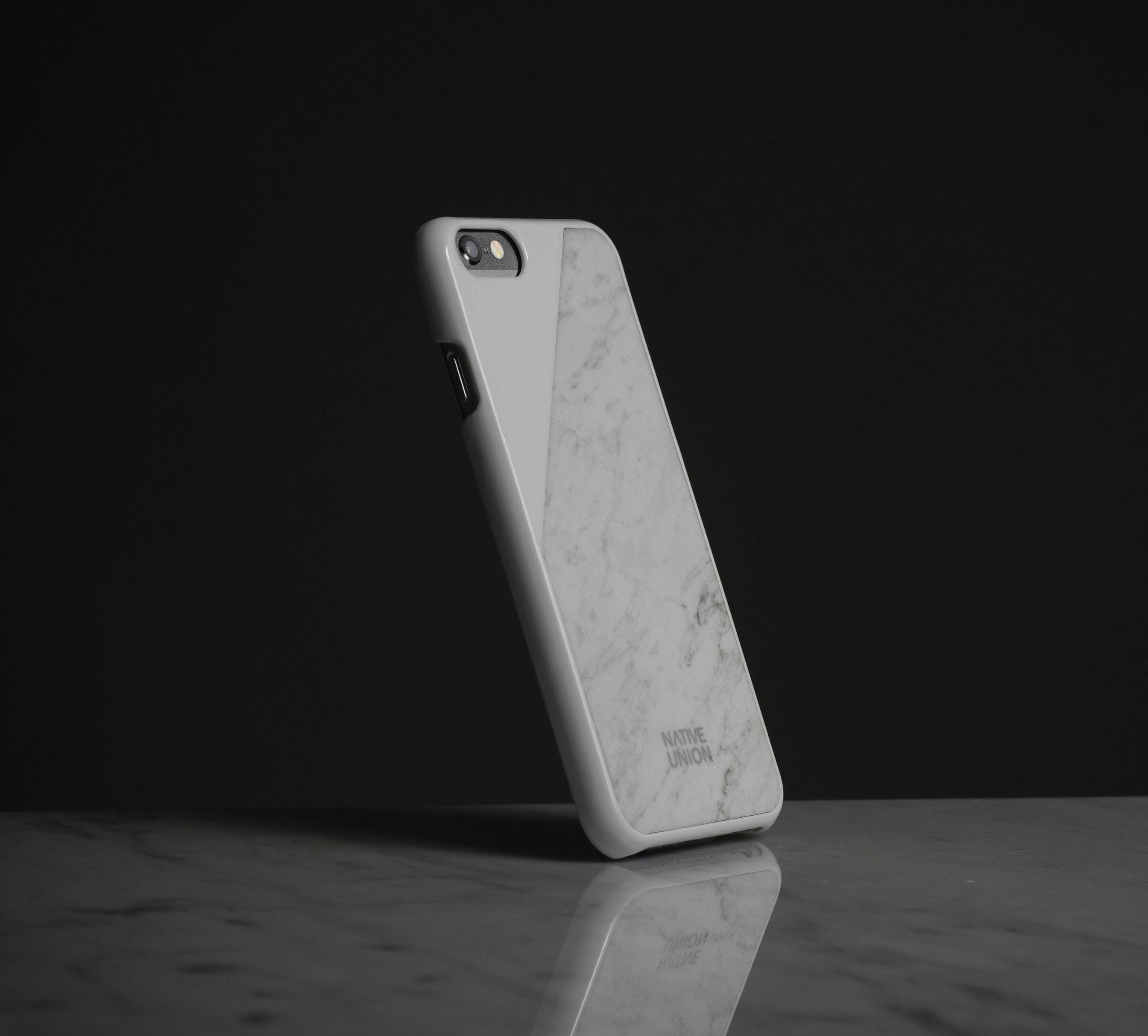 coque iphone 6 clic marble marbre v ritable blanc marbre blanc native union. Black Bedroom Furniture Sets. Home Design Ideas