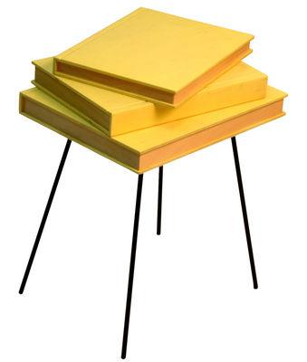 Foto Tavolino d'appoggio Fairy tales - / 36 x 31 x H 46 cm di Valsecchi 1918 - Giallo - Metallo