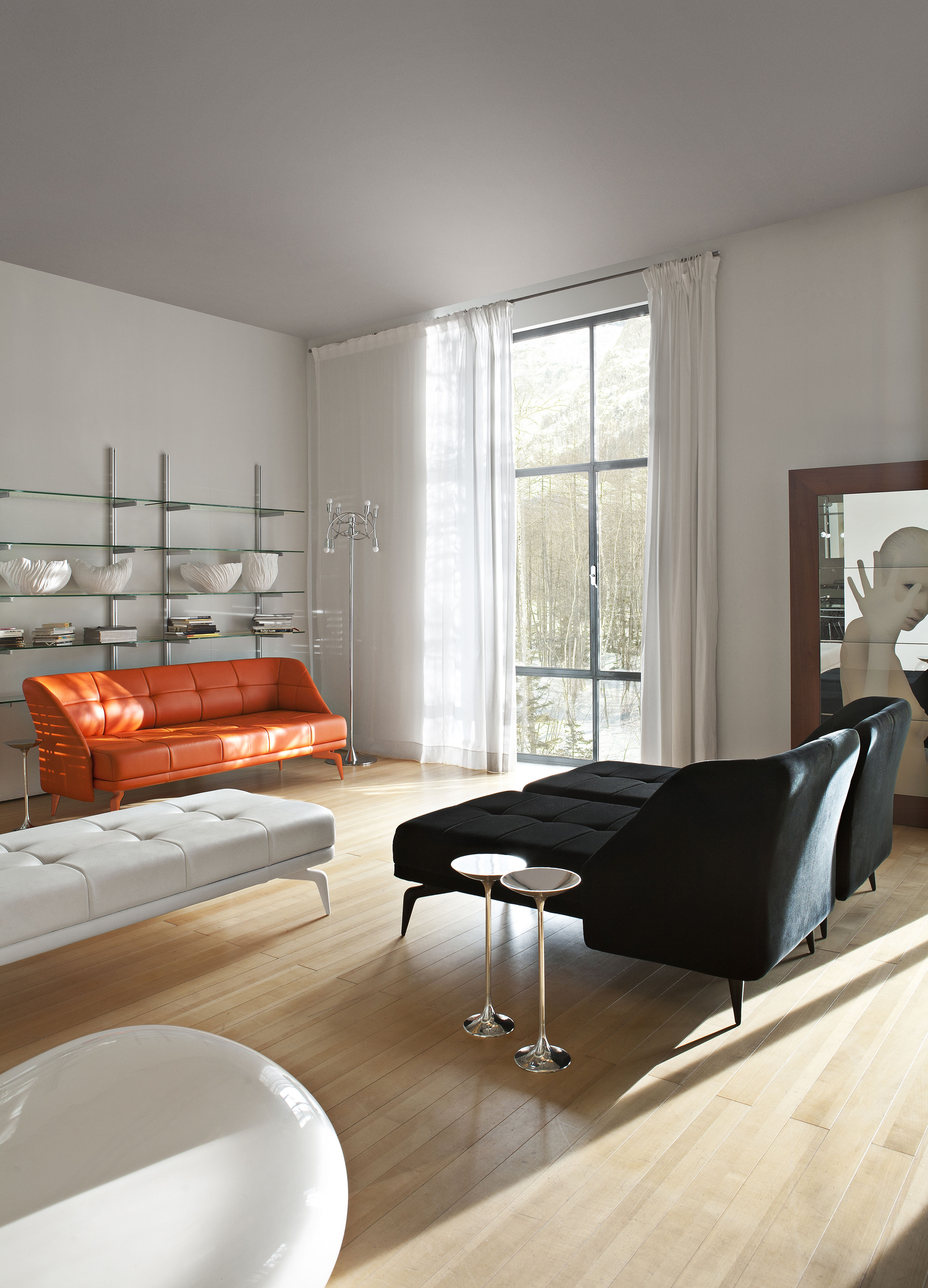banc leeon cuir blanc driade. Black Bedroom Furniture Sets. Home Design Ideas