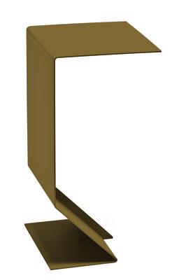 Table d'appoint Mark L 27 x H 51 cm Moroso vert kaki en métal