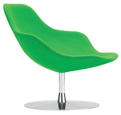 Poltrona girevole Palma di Offecct - Verde - Tessuto