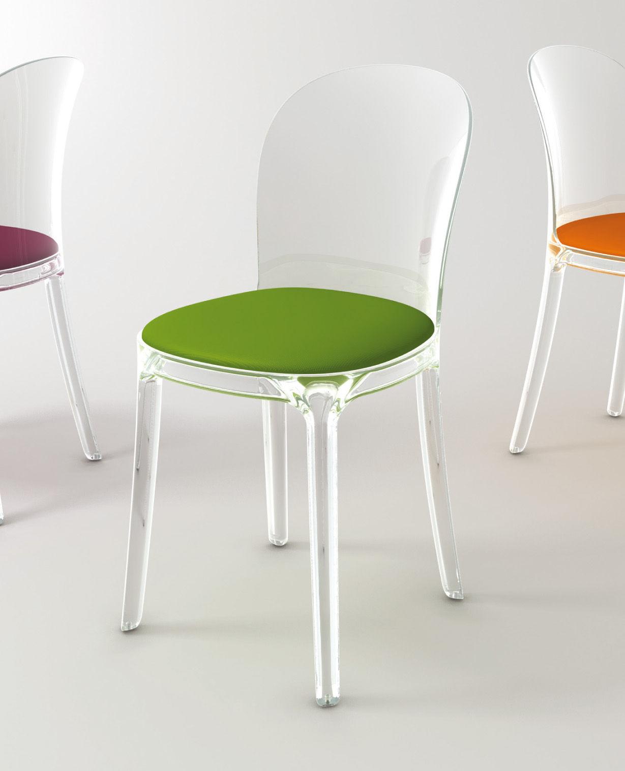 Scopri sedia vanity chair struttura trasparente for Sedia ufficio trasparente