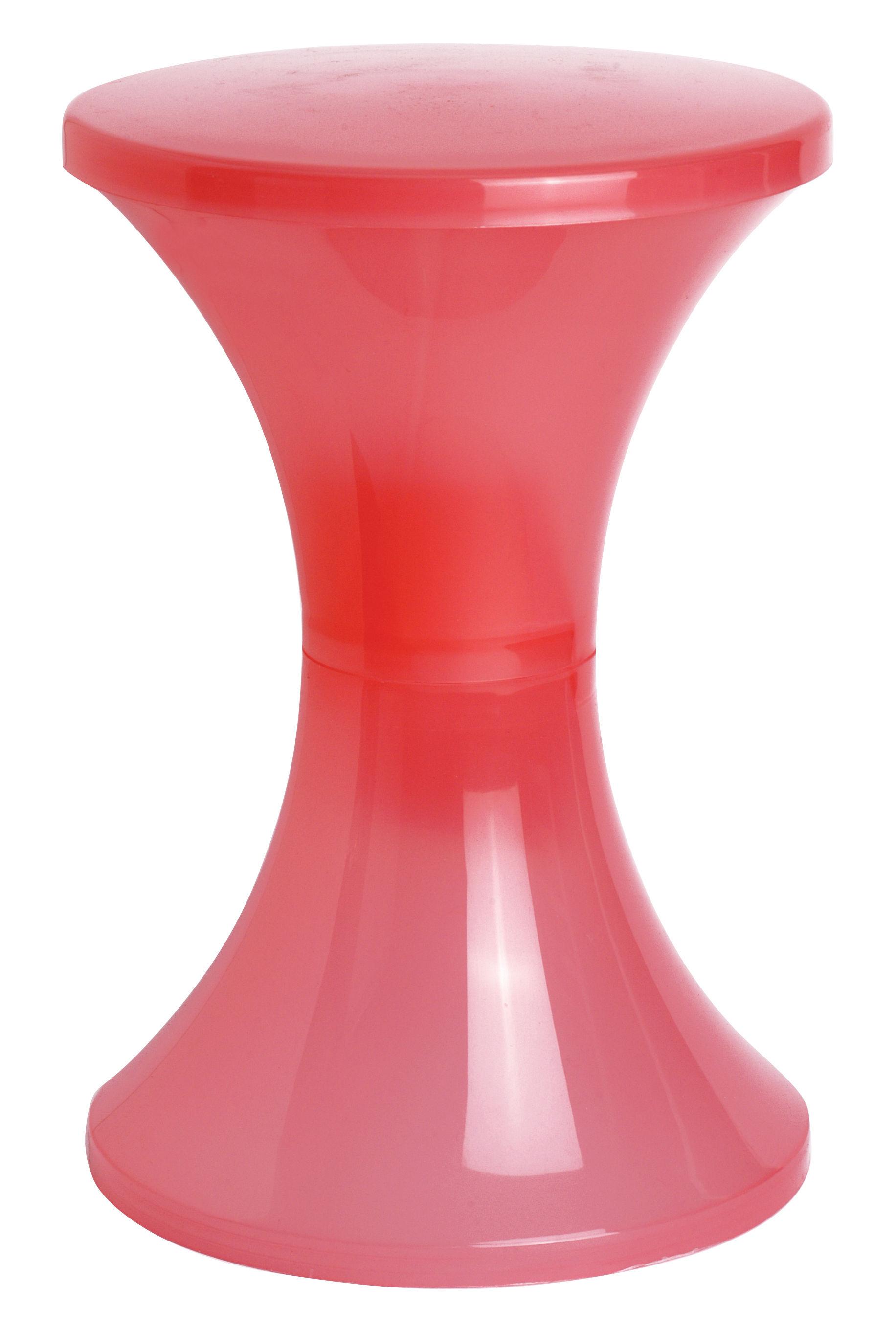 tabouret tam tam trans h 45 cm rose transparent branex. Black Bedroom Furniture Sets. Home Design Ideas