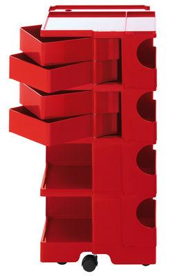 Desserte Boby / H 94 cm - 4 tiroirs - B-LINE rouge en matière plastique