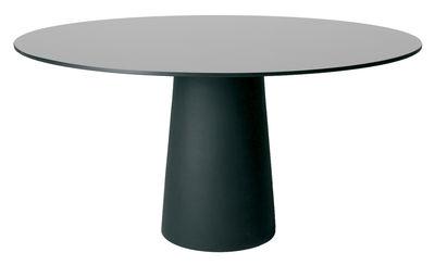 Plateau de table Container Ø 160 cm Moooi gris en matière plastique