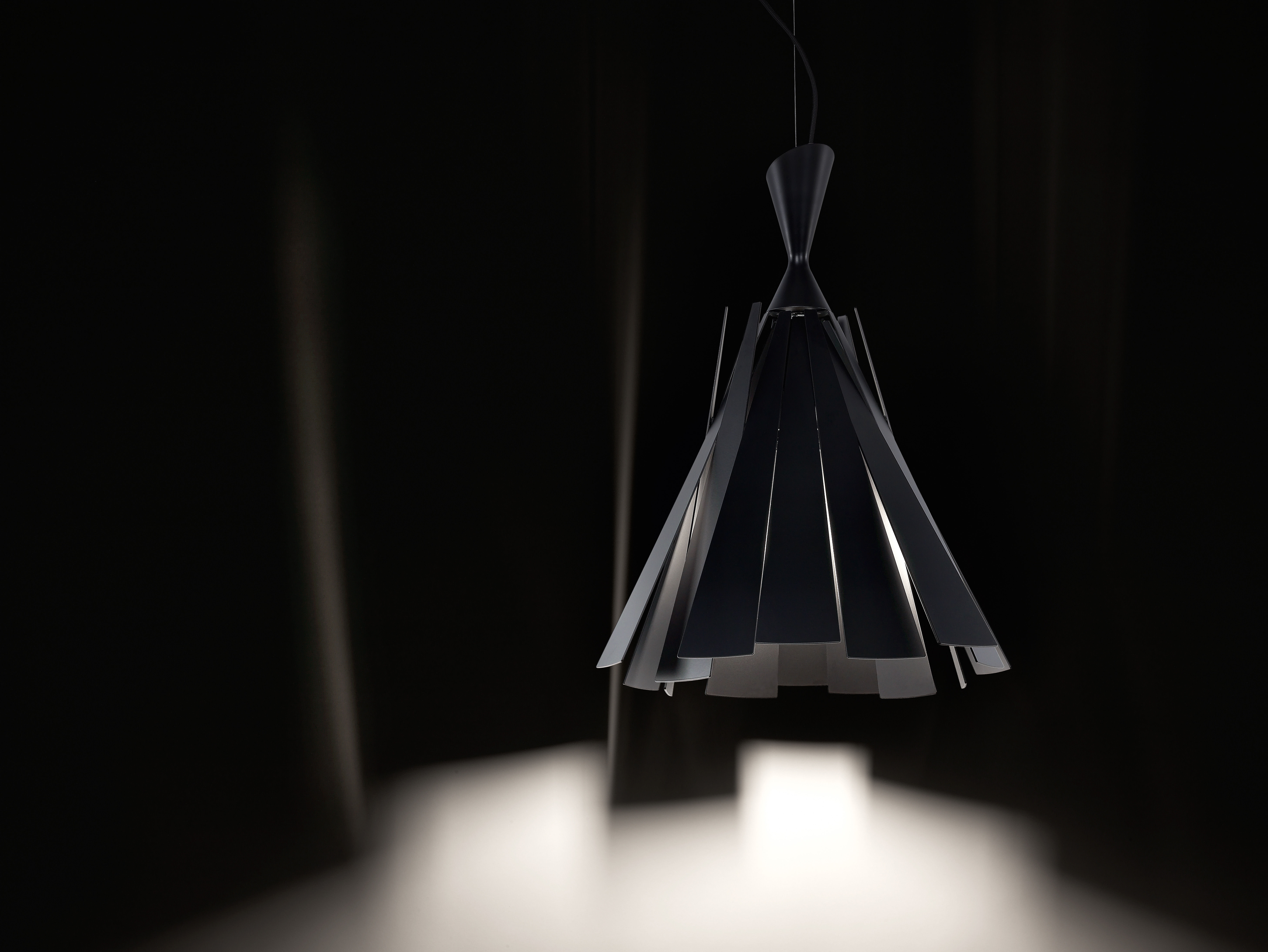 Metronome H Pendant Black By Delta Light Made In Design Uk