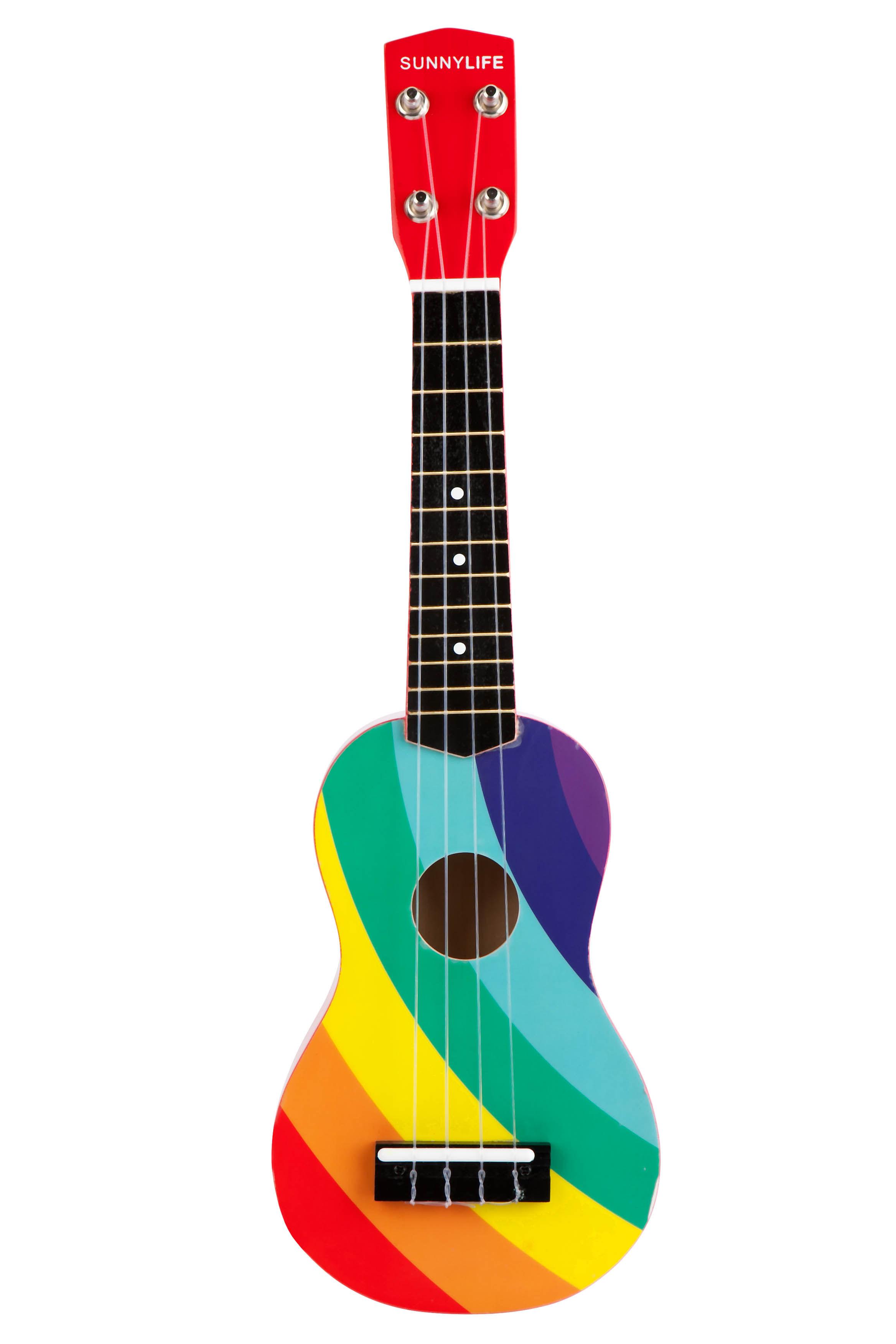 Ukul l arc en ciel bois arc en ciel sunnylife for Porte ukulele