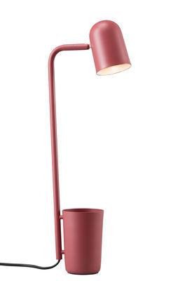 Luminaire - Lampes de table - Lampe de table Buddy / Métal - Pot intégré - Northern  - Marsala - Acier peint
