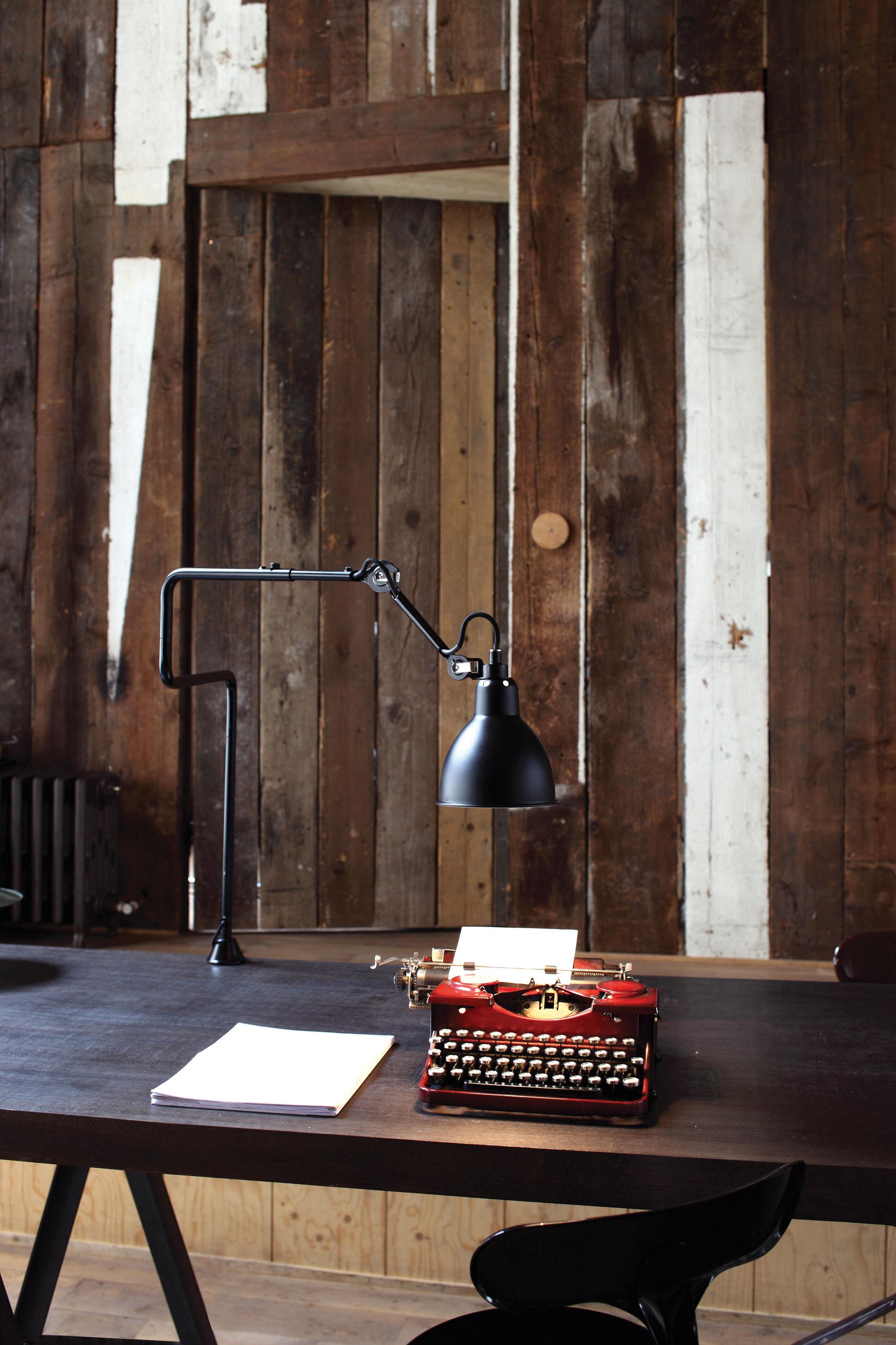lampe de table n 211 311 lampe d 39 architecte base tau lampe gras abat jour noir. Black Bedroom Furniture Sets. Home Design Ideas