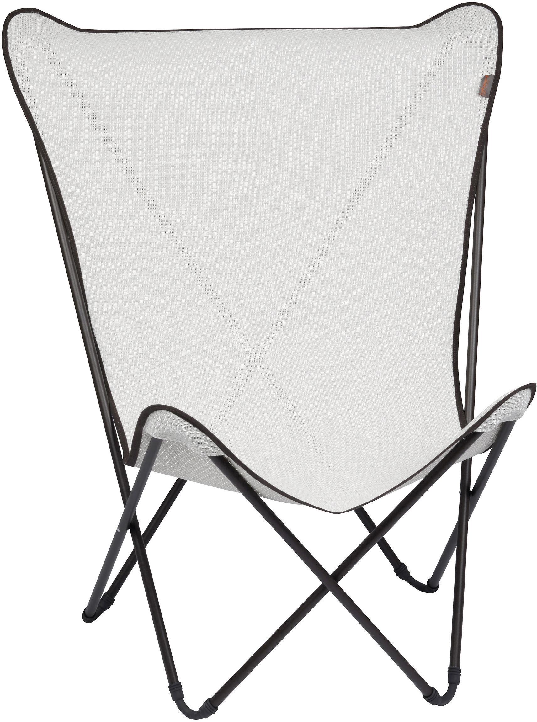 fauteuil maxi pop up pliable blanc kaolin structure marron lafuma. Black Bedroom Furniture Sets. Home Design Ideas