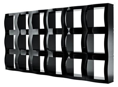 Etagère Boogie Woogie / Cube modulaire - 52 x 52 cm - Magis noir en matière plastique
