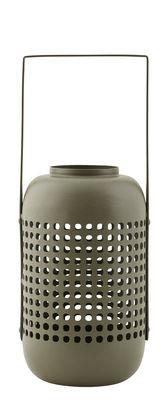 Lanterne Panel / Métal - H 20 cm - House Doctor vert kaki en métal