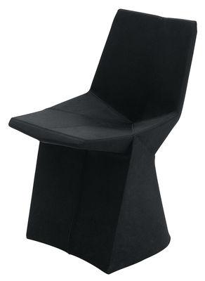 Mobilier - Chaises, fauteuils de salle à manger - Chaise rembourrée Mars - ClassiCon - Tissu noir - Acier, Laine, Ouate de polyester