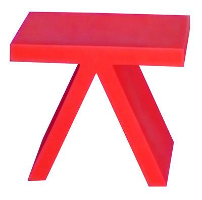 Tavolino d'appoggio Toy di Slide - Rosso - Materiale plastico