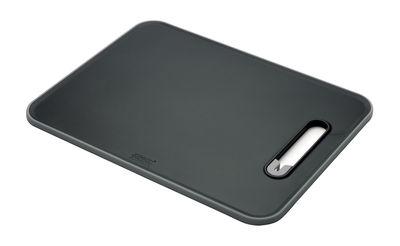 Planche à découper Slice Sharpen Aiguiseur à couteaux intégré Joseph Joseph gris,noir en matière plastique