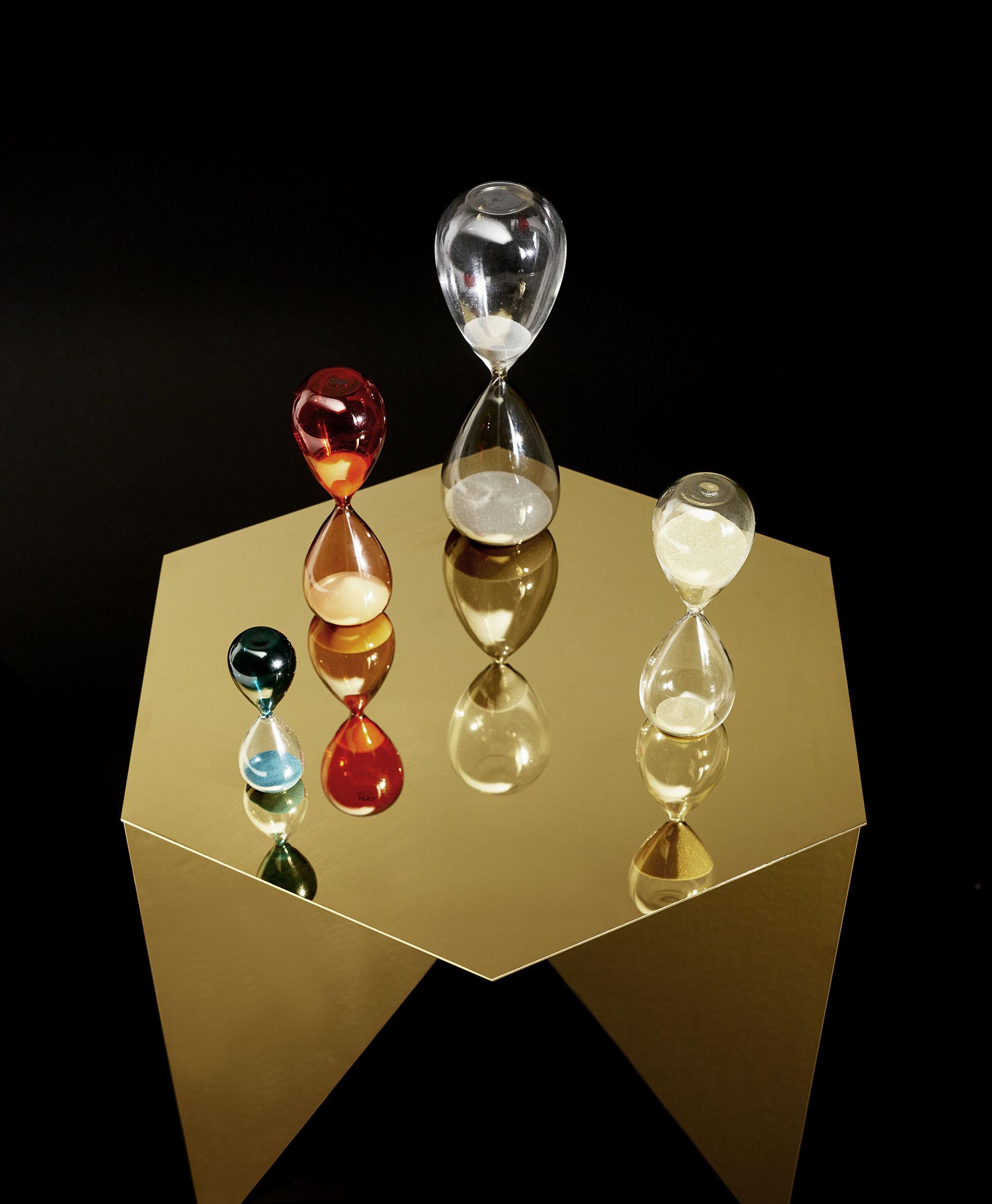 sablier time large 30 minutes h 19 5 cm vert rose. Black Bedroom Furniture Sets. Home Design Ideas