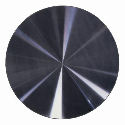 Tapis Kartell Carpet / Ø 200 cm - Kartell noir métallisé en tissu