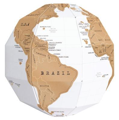 Globe terrestre scratch globe en papier gratter or - Globe terrestre pour enfant ...