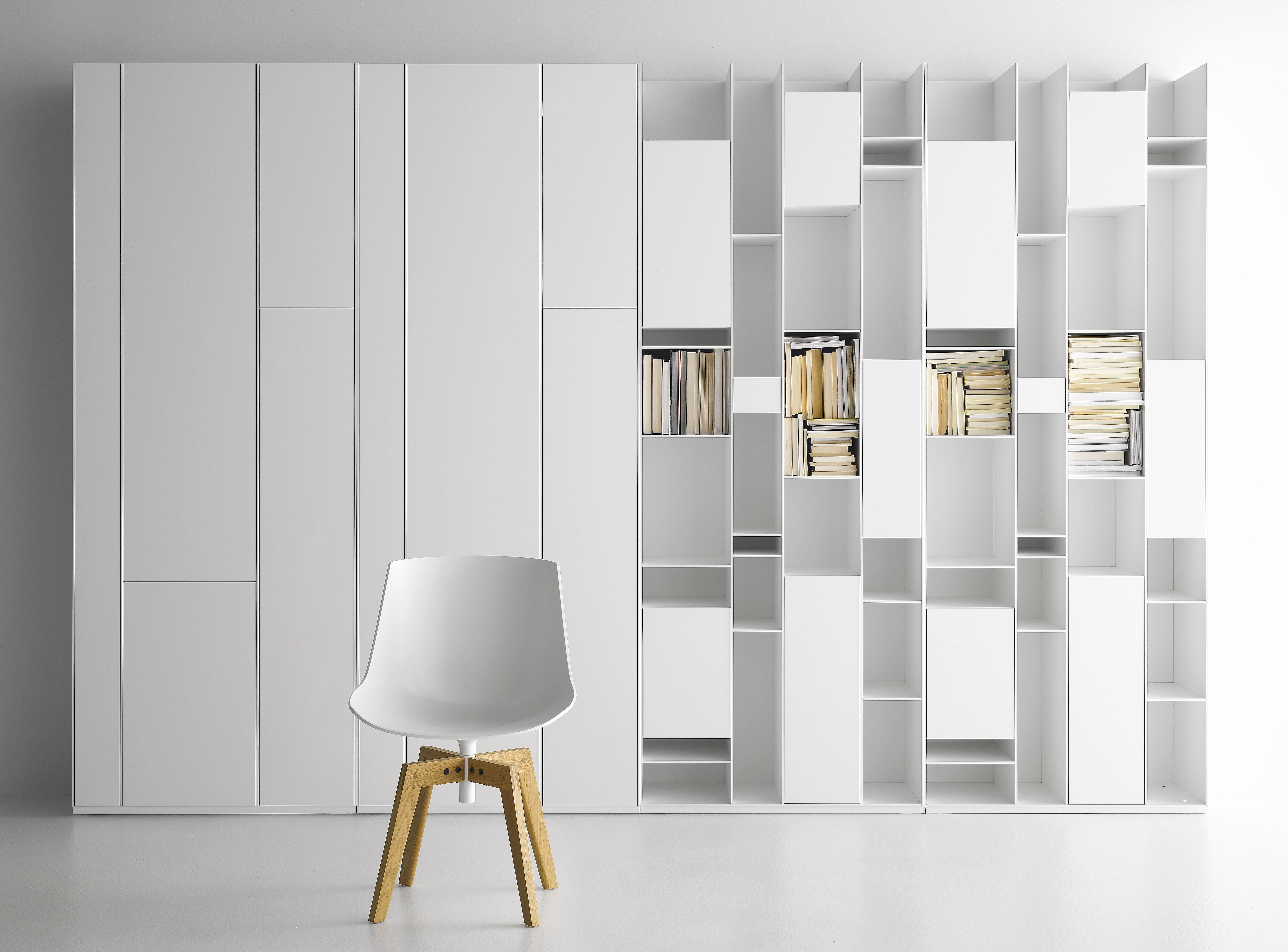 Wonderful image of  > Random Cabinet Bookcase Storage unit / Bookcase by MDF Italia with #5F4A2A color and 5310x3924 pixels