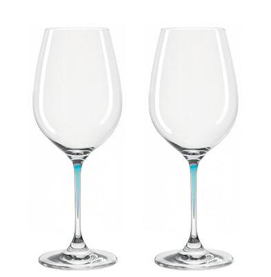Verres à vin La Perla / Set de 2 - Leonardo bleu en verre