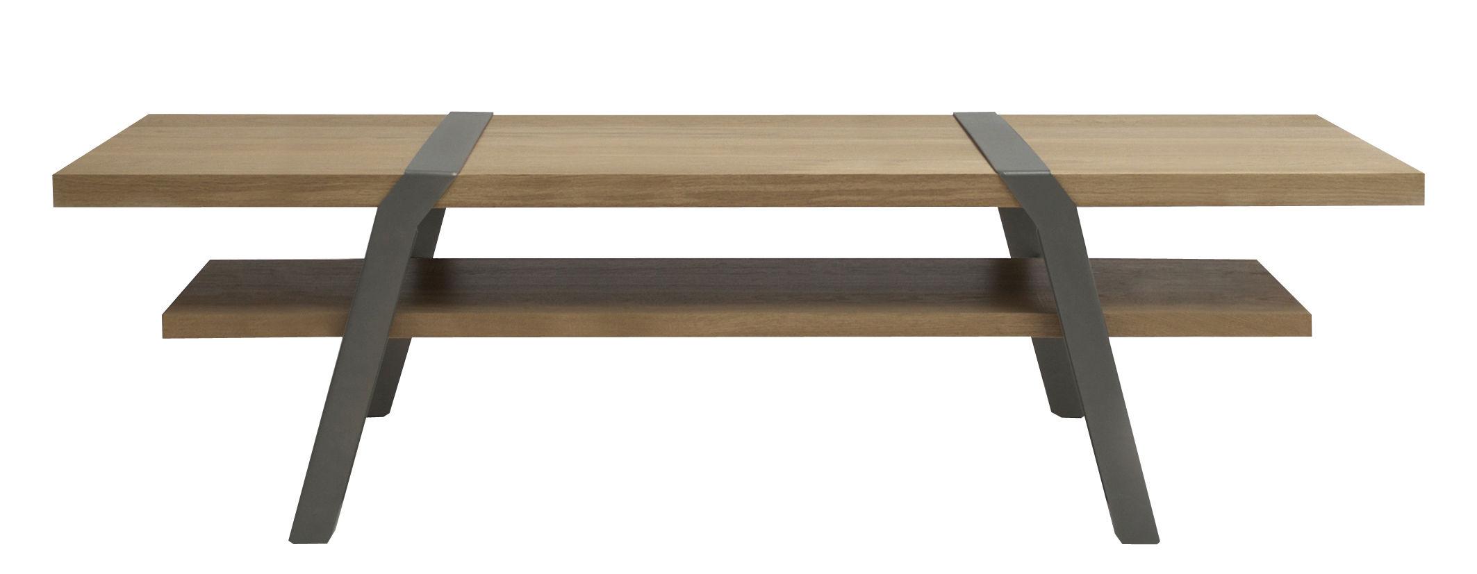 table basse pi 160 x 60 cm gris canon de fusil moaroom. Black Bedroom Furniture Sets. Home Design Ideas