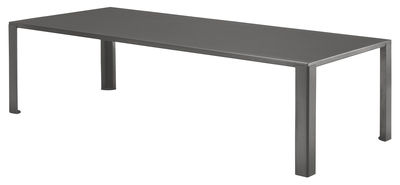 Table de jardin Big Irony Outdoor / L 238 cm - Zeus gris chaud en métal