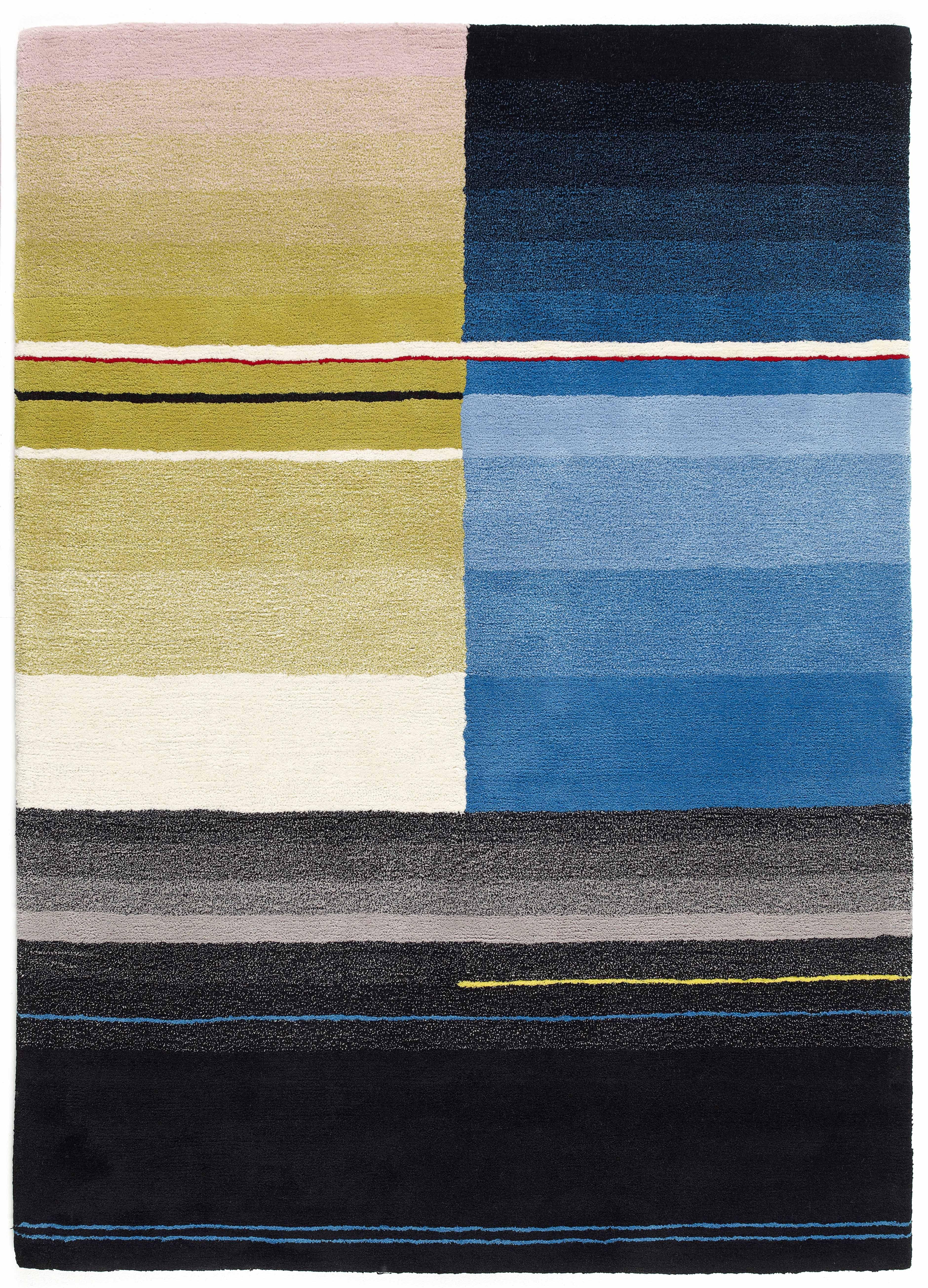 tapis colour 170 x 240 cm noir turquoise jaune hay. Black Bedroom Furniture Sets. Home Design Ideas