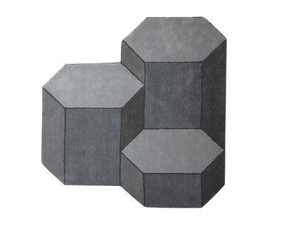 Tapis Basalte / Large - 160 x 170 cm - ENOstudio gris clair,gris foncé en tissu