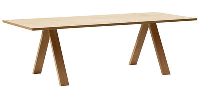 Table Cross / Bois - 200 x 100 cm - Arper chêne naturel en bois
