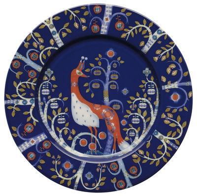 Assiette à dessert Taika / Ø 22 cm - Iittala bleu en céramique