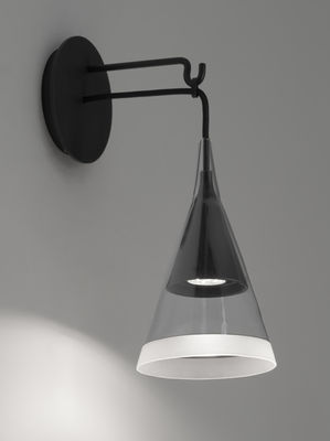 Foto Applique Vigo / LED - H 42 cm - Artemide - Bianco,Nero,Trasparente - Metallo