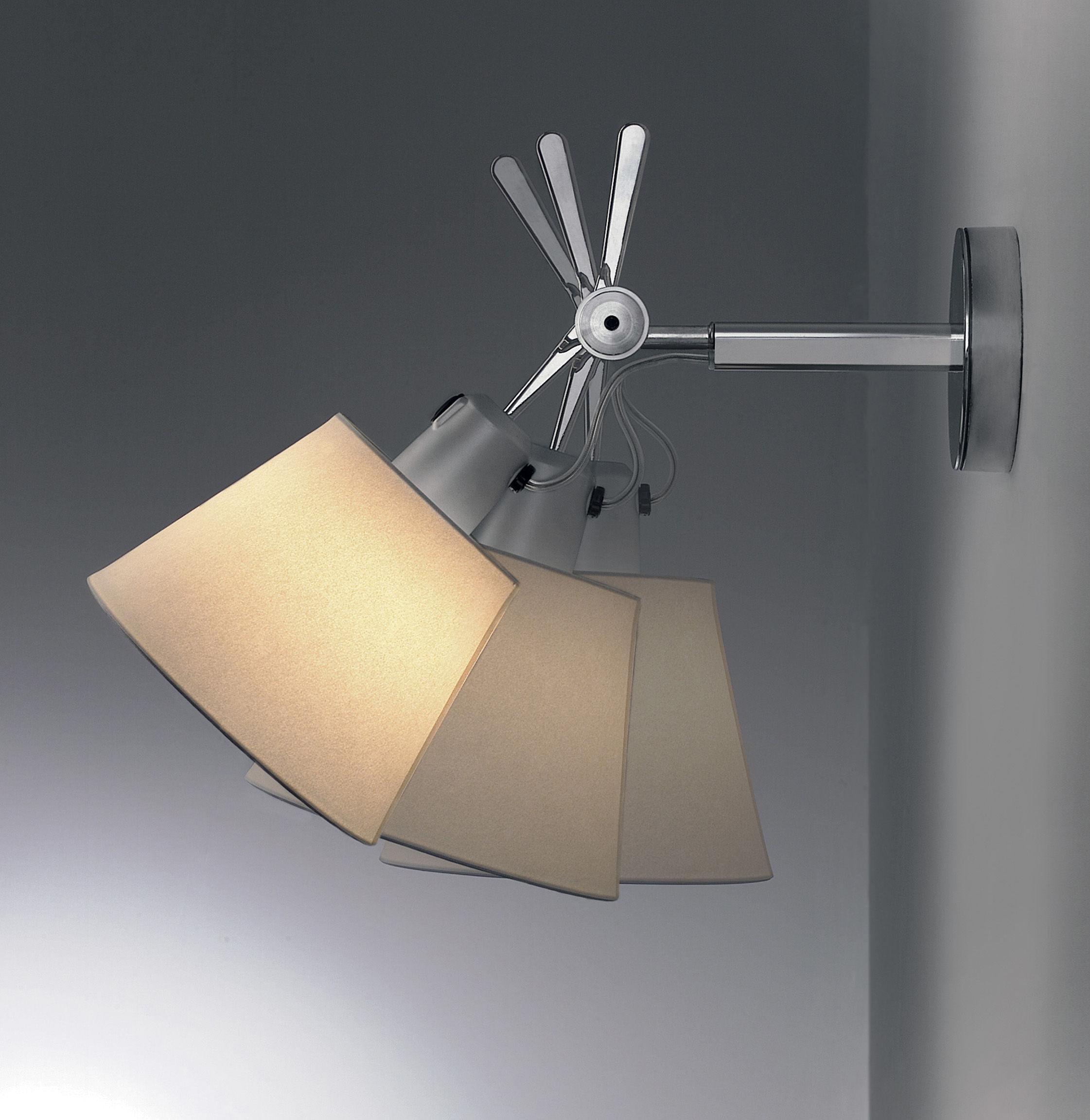 applique tolomeo 18 cm aluminium papier parchemin. Black Bedroom Furniture Sets. Home Design Ideas