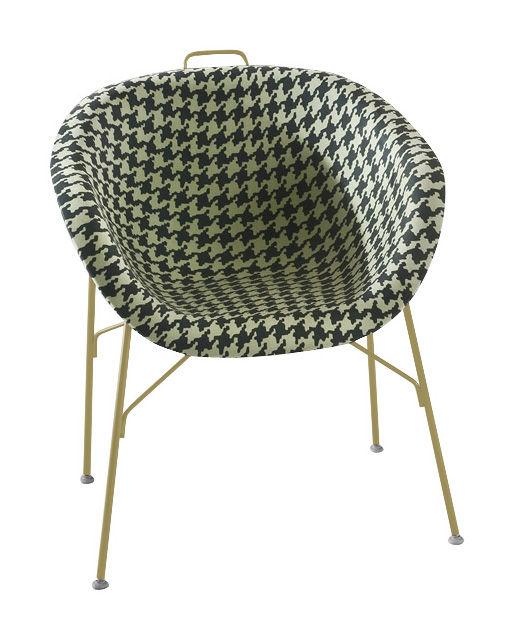fauteuil eu phoria fashion assise tissu structure moutarde coque tissu pied de poule vert. Black Bedroom Furniture Sets. Home Design Ideas