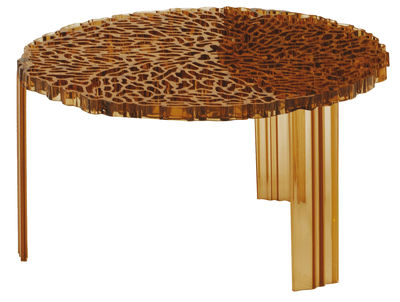 T-Table Basso Couchtisch - Kartell - Amber transparent