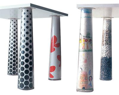 Rentrée 2011 UK - Bureau design - Pied de table Flare / Vendu à l'unité - Magis - Pied à l'unité / Transparent - ABS