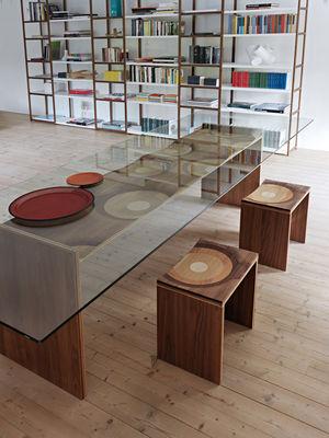 Verschiedene Holzarten ripples 250 x 100 cm 5 verschiedene holzarten horm tisch
