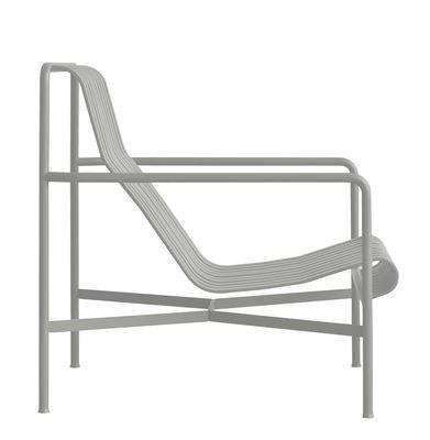 Poltrona bassa Palissade / Schienale alto - R & E Bouroullec - Hay - Grigio chiaro - Metallo