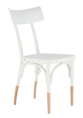 Chaise Czech / Bois - Wiener GTV Design blanc,bois naturel en bois