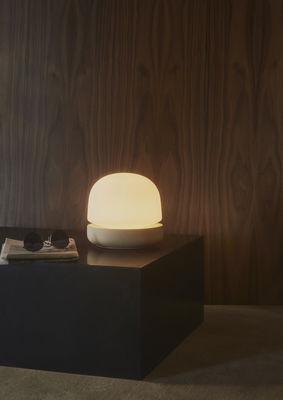 Scopri Lampada da tavolo Stone -/ Ceramica - H 19 cm, Sabbia / Vetro ...