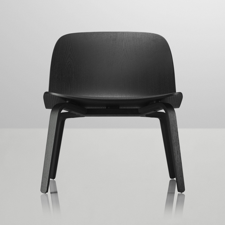 fauteuil bas visu noir muuto. Black Bedroom Furniture Sets. Home Design Ideas