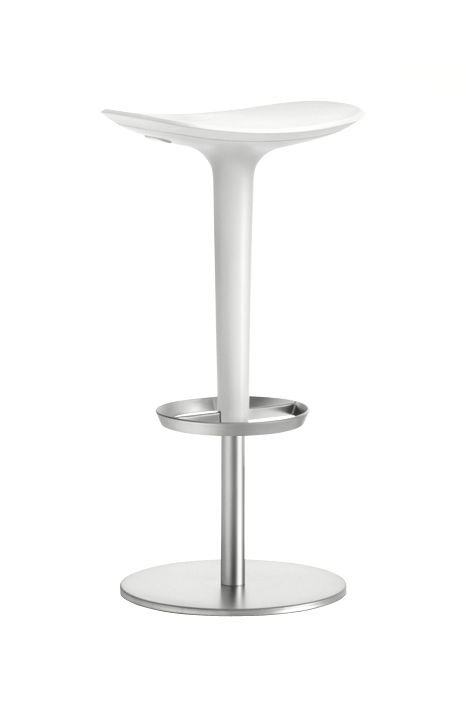 tabouret haut r glable babar pivotant assise plastique structure acier satin coussin et. Black Bedroom Furniture Sets. Home Design Ideas