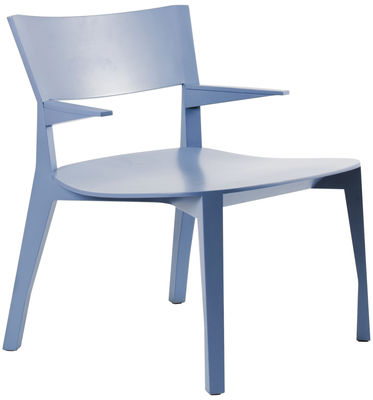 Gavotte Lounge Sessel - Moustache - Taubenblau