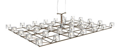 Luminaire - Suspensions - Suspension Space-Frame / LED - Small - 63 x 43 cm - Moooi - Small - 63 x 43 cm - Acier inoxydable, Métal, Polycarbonate