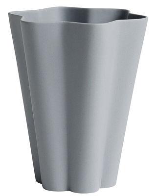 Vase Iris Large Ø 14 X H 17 cm Fait main Hay gris en céramique