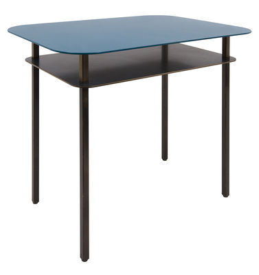 Foto Tavolino Kara / Comodino - 60 x 44 cm - Maison Sarah Lavoine - Nero,Bleu Sarah - Metallo Tavolino d'appoggio
