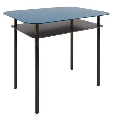Tavolino Kara / Comodino - 60 x 44 cm - Maison Sarah Lavoine - Nero,Blu Sarah - Metallo