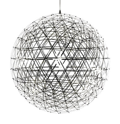 Lighting - Pendant Lighting - Raimond Pendant - Ø 127 cm by Moooi - Ø 127 cm - Polished steel - Aluminium, PMMA, Stainless steel